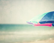 Beach Umbrella Posters - The Beach Umbrella Poster by Lisa Russo
