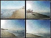 San Clemente Pier Posters - The Beaches of San Clemente Collage Poster by Traci Lehman