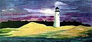 Sand Dunes Paintings - The Beacon by Patricia Griffin Brett