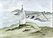 Ireland Drawings - The Beacon West Cork by Eva Ason