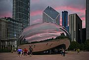 Chicago Digital Art Metal Prints - The Bean - Chicago Metal Print by Jim Wright