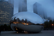 Stainless Steel Prints - The Bean and Fog Print by Crystal Nederman