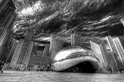 Chicago Black White Posters - The Bean Poster by Joel Lavold