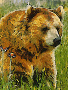 Bears Digital Art - The Bear Painterly by Ernie Echols