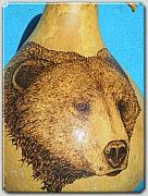 Bear Pyrography Originals - The Bear by Patrick  Loafman
