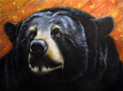 Bear Art Paintings - The Bear Spirit by Jurek Zamoyski