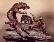 Wyoming Sculpture Prints - The Bear Trap Print by Willoughby  Senior