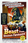000 Prints - The Beast From 20,000 Fathoms, 1953 Print by Everett