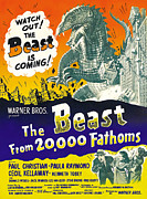 1950s Movies Framed Prints - The Beast From 20,000 Fathoms, Advance Framed Print by Everett