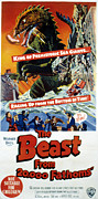 Classic Sf Posters Framed Prints - The Beast From 20,000 Fathoms, The, 1953 Framed Print by Everett