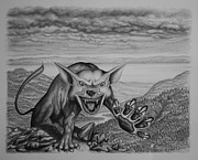 Claw Drawings - The Beast by James Willoughby III