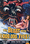 1950s Poster Art Framed Prints - The Beast With A Million Eyes, 1955 Framed Print by Everett