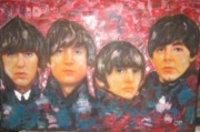 Paul Mccartney Painting Originals - The Beatles - early days   by Sam Shaker