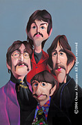 George Harrison Paintings - The Beatles 67 by Oscar Altamirano