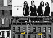 Billboard Signs Prints - The Beatles and Apple in New York City Print by Anahi DeCanio Photography