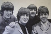 Beatles Painting Originals - The Beatles by Bill Schuler