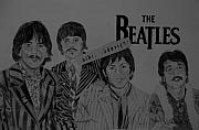 Beatles Pyrography - The Beatles by Cheryl Shibley