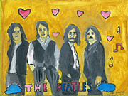 Beatles Mixed Media Originals - The Beatles come alive by Nat Solomon