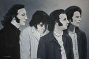 The Beatles George Harrison Paintings - The Beatles by Ivonne Campbell