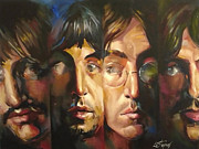 Fab Four Framed Prints - The Beatles Framed Print by Lorna Stephens