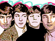 The Beatles George Harrison Paintings - The Beatles Love by David Lloyd Glover