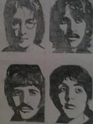 Fab Four  Drawings - The Beatles by Mark Norman II