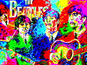 The Beatles George Harrison Paintings - The Beatles by Mike OBrien
