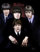 The Beatles George Harrison Paintings - The Beatles by Reggie Duffie