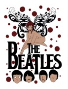Musical Notes Drawings Prints - The Beatles Print by Scarlett Royal