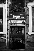 Liverpool Acrylic Prints - The Beatles Shop In Mathew Street In Liverpool City Centre Birthplace Of The Beatles Merseyside  Acrylic Print by Joe Fox