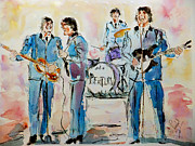 Beatles Metal Prints - The Beatles Metal Print by Steven Ponsford