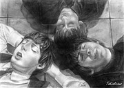 Mccartney Drawings - The Beatles by Tokiiolicious