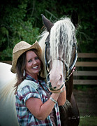 Best Friend Photos - The Beautiful Cowgirl by Terry Kirkland Cook