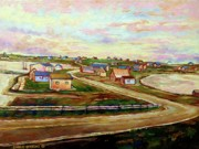 Picturesque Painting Prints - The Beautiful Skies Of Prince Edward Island Print by Carole Spandau