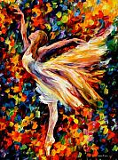Leonid Afremov Metal Prints - The Beauty Of Dance Metal Print by Leonid Afremov