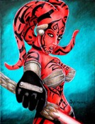 Sith Paintings - The Beauty of the Dark Side by Al  Molina