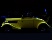 Antique Automobiles Digital Art - The Beauty of Yellow by Steven  Digman