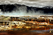 Yellowstone Digital Art Metal Prints - The Beauty of Yellowstone Metal Print by Ellen Lacey
