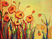Orange Poppy Paintings - The Beckoning by Jennifer Lommers