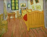 Boudoir Paintings - The Bedroom by Vincent van Gogh