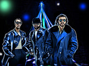Disco Mixed Media Framed Prints - The Bee Gees Framed Print by Tyler Robbins