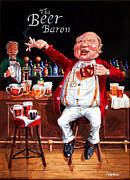 Johnny Trippick Framed Prints - The Beer Baron Framed Print by Johnny Trippick