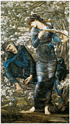 Merlin Posters - The Beguiling of Merlin Poster by Edward Burne-Jones