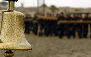 Military Photos - The Bell Is Present On The Beach by Stocktrek Images