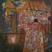 Blackbird Mixed Media Metal Prints - The Bell Tolls Metal Print by Lynn Chatman