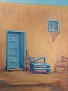 Taos Pastels - The Bench by Jo Castillo