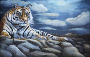 All Acrylic Prints - The Bengal Tiger by Enzie Shahmiri