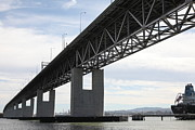 Bay Bridge Metal Prints - The Benicia-Martinez Bridge in California - 5D18754 Metal Print by Wingsdomain Art and Photography