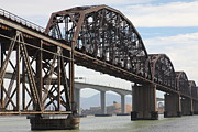 Benicia Martinez Bridge Posters - The Benicia-Martinez Train Bridge in California - 5D18679 Poster by Wingsdomain Art and Photography