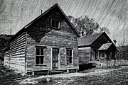Bannack Montana Prints - The Bessette House - Bannack Montana Ghost Town Print by Daniel Hagerman